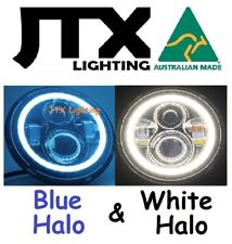 "BLUE WHITE 7"" Lights Halo  Valiant Chrysler Charger 265 Centura Galant"