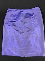 LUISA SPAGNOLI Women's Purple 100% Wild Silk Skirt Size 12 US / 46 EU