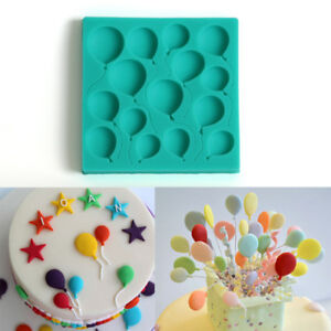 Baubles Silicone Fondant Balloon Mould Cake Chocolate Decorating Baking Mold DIY