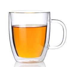 12XDouble Walled Borosilicate Glass Mugs For Tea Coffee Latte Cappuccino 400ML