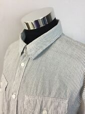 Vans Men's XL Shirt S/S Pockets Gray White Striped The Sole of Skate 1966 (A32)