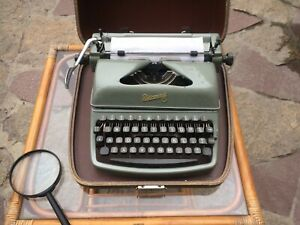 Typewriter  Rheinmetall with case.  Working Condition.