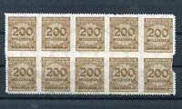 Deutsches Reich Nr. 323 B ZB PE I Korbdeckel ** 10er-Block