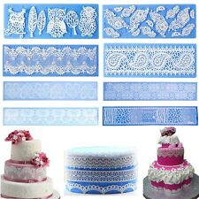 Silicone Lace Flower Fondant Mat Molds Cake Decorating Mould Sugar Baking Tools