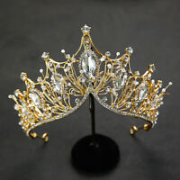 Baroque Rhinestone Crystal Headband Tiara Crown Wedding Bridal Hair Ornament