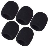 5 Pcs Microphone Windscreen Pop Filter Sponge Foam Wind Shield Mic Cover
