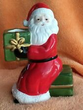 Vtg 1986 - Fitz & Floyd Porcelain Santa Claus Candle Holder Christmas Sitting