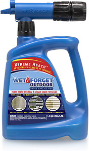 Roof Siding Cleaner Outdoor Deck Driveway Mold Mildew Algae Stain Remover Spray