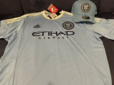 nycfc New York City Football Club replica Soccer jersey Xl Nwt W/Snap Back Hat