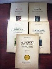 Coleccion Astrologia Ciclica,Completa en 5 tomos,Ed.Costa-Amic 1965