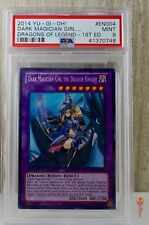 1st Ed Dark Magician Girl The Dragon Knight Yu-Gi-Oh! Card DRLG-EN004 PSA 9 MINT