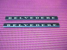 1966 1967 MOPAR PLYMOUTH BELVEDERE II Emblem Nameplate Inserts PAIR