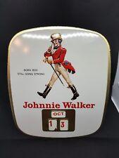 Original Johnnie Walker 1950s Metal Calendar Rare Old Whisky