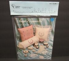 Country Crafts Pattern # K-100 Simple Elegance Iii Pat Waters New & Sealed