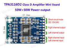 TPA3116D2 12V-24V Digital Audio Amplifier board  Class D Amp Module 50W+50W
