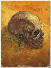 Skull by Vincent Van Gogh Canvas Art Print Poster 16X22 Painting Original Photo