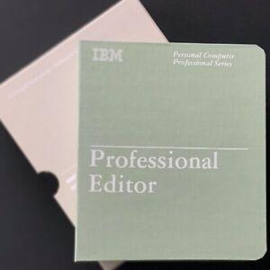 Original IBM Professional Editor Software für PC inkl. Handbuch in Schuber