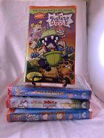 Nickelodeon VHS Lot of 4 Rugrats and Hey Arnold Movies Circa 2000 (3 New Sealed)