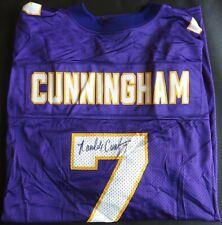 Randall Cunningham Signed Minnesota Vikings American Football Shirt Aftal Rd175