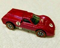 VINTAGE 1967 HOT WHEELS REDLINE FORD J CAR #6214 RARE CREAMY PINK UNRESTORED