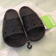 NWT CROCS Baya Slide Sandals Women's 8 Men's 6 Black Unisex Comfort Shoe