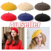 Women's  Unisex Acrylic Wool French Beret Newsboy Hat Cap Winter Warm