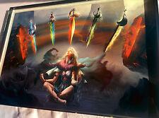 Art Print  **The 5 Swords** 13x19 Inches MTG