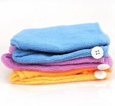 Cheveux Séchage Turban cap chapeau sec éponge serviette microfibre douche towel