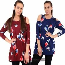 3/4 Sleeve Blouses Cold Shoulder Sleeve Tops & Shirts for Women