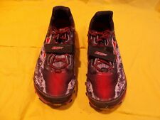 GOOD USED ALTRA KING MT MENS US SIZE 11.5 TRAIL RUNNING & OCR SHOES red black