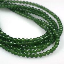 """Pretty 4mm natural verde piedras preciosas de Malaquita Redondo Cuentas Sueltas Strand 15/""""AAA"""
