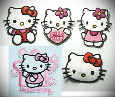 5 pcs Hello Kitty Embroidery Iron On Patch Patches / Lovely Appliques /Sew Skirt