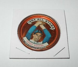 1964 Topps Baseball Coin Pin #159 Sandy Koufax LA Dodgers All Star Excellent