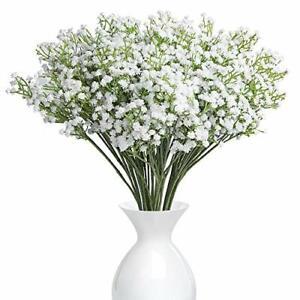 YSBER 10Pcs Baby Breath/Gypsophila Artificial Fake Silk Plants Wedding Party ...