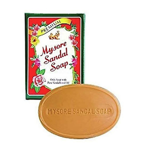12 x MYSORE SANDALWOOD SANDAL SOAP - GOLD