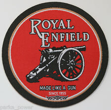Royal Enfield iron on patch, woven, Motorcycle, Vintage, English, bikers, Rocker