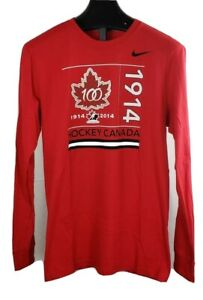 Team Canada Nike Regular Fit Long Sleeve Shirt Size Large New Without Tags