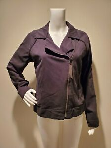 Lululemon Soft Summer Jacket Black Asymmetrical Zip 8