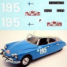 Citroen DS 21 Rallye Monte Carlo 1966 #195 Toivonen Mikander1:87 Adhesivo
