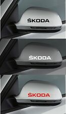 For SKODA 2 x Wing Mirror -  CAR DECAL STICKER  - FABIA OCTAVIA - 80mm long