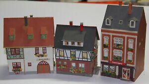 Faller o.a.  H0 zwei Fachwerkhäuser und ein Stadthaus mit Laden