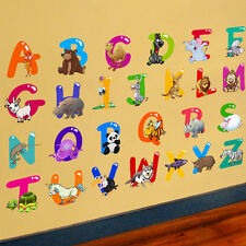 26 Animals Alphabet Wall Decal Removable Sticker Educational Gift Kid Room Decor