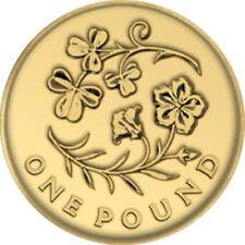 UK 2014 Flax and Shamrock Circulation £1 [Ref 199J]