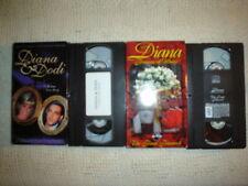 RARE VHS LOT DIANA & DODI - PRINCESS DIANA OF WALES THE FINAL FAREWELL
