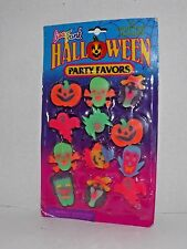 Lisa Frank Vintage Halloween Party Favors 12 Ghoulish Erasers New .. (U)