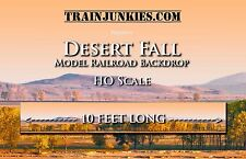 "TrainJunkies HO Scale ""Desert Fall"" Model Railroad Backdrop 18x120"""