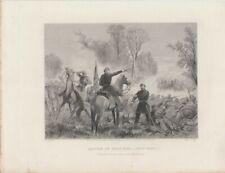 [70603] 1881 JOHNSON, WILSON STEEL ENGRAVING of BATTLE of BULL RUN - JULY 1861