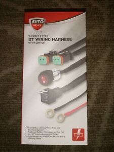 Auto Drive 9 Foot 1 To 2 DT Wiring Harness Kit With Switch • 12 Volt • 14AWG