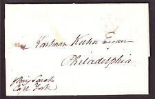 US Stampless Folded Ship Letter from St. Kitts Leeward Islands via Brig Sarah
