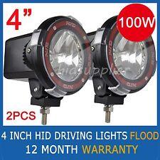 "2 Pcs 100W 4"" HID XENON Driving Lights EURO Flood Beam 4 INCH OFFROAD Spotlights"